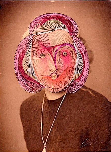 Maurizio Anzeri string portraits
