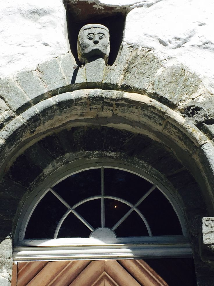 Oldest stone face in NORWEGIAN church, Grimstad