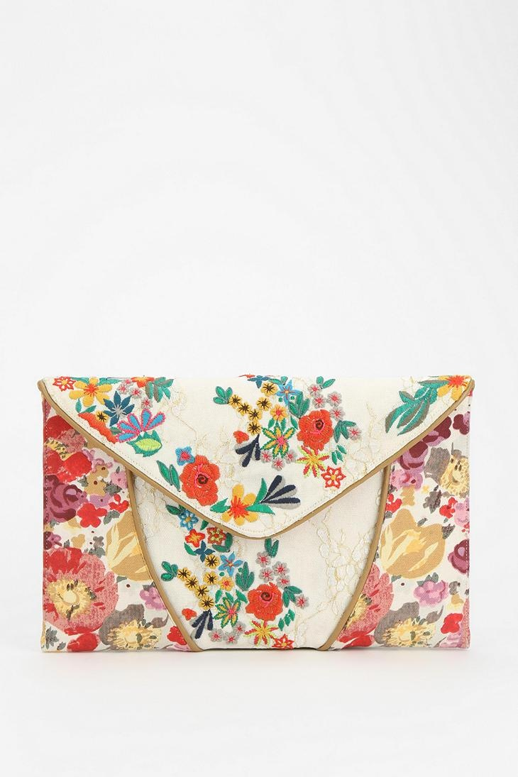 Kimchi Blue Embroidered Lace Crossbody Clutch #urbanoutfitters