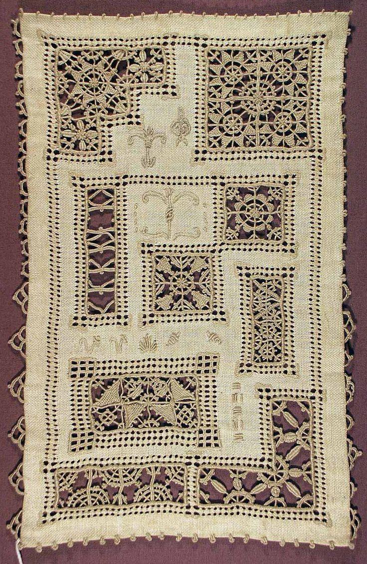 "gtcgallery: "" Ruskin lace sampler linen c.1933-1967 """
