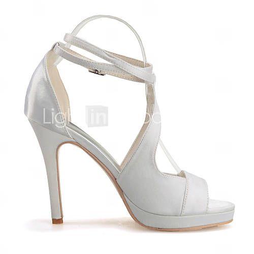 chaussures de mariage noir violet ivoire blanc argent champagne - Chaussures Compenses Blanches Mariage