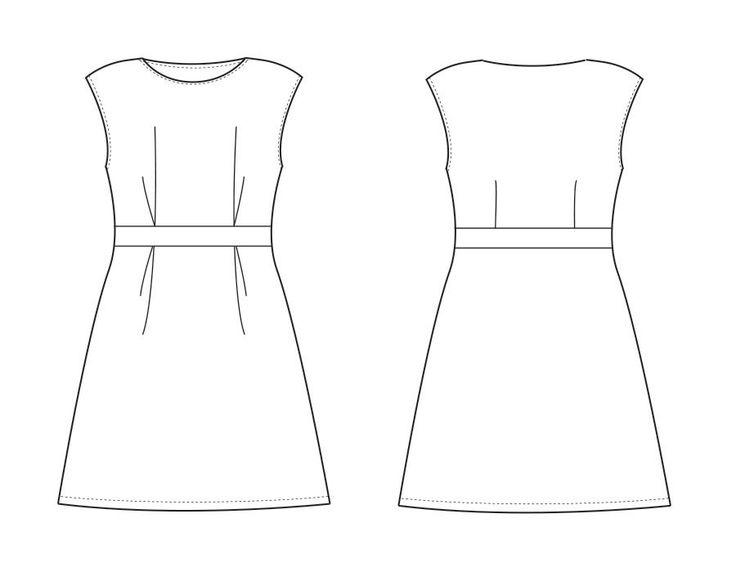 Patron couture femme en français - Robe CARLY - Patrons et tutoriels de couture chez Makerist