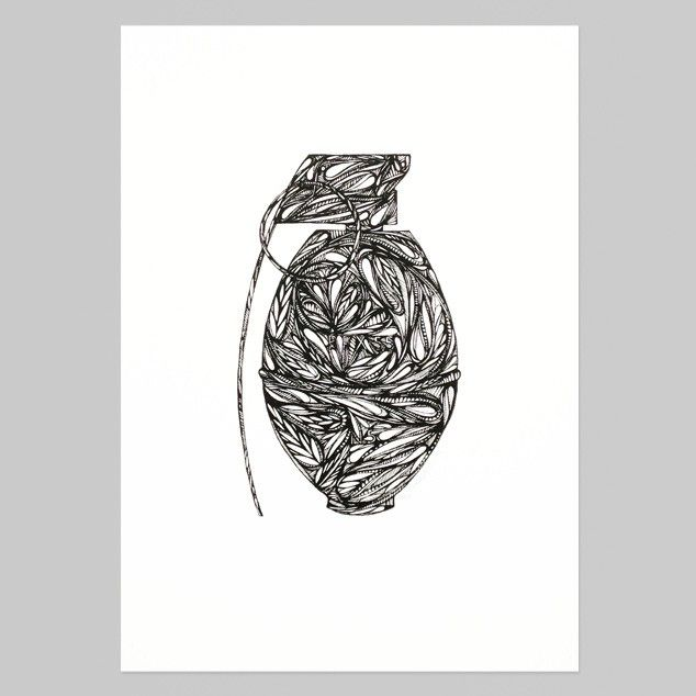 Grenade Print by Ruby Watson - Art Prints NZ Art Prints, Design Prints, Posters & NZ Design Gifts   endemicworld