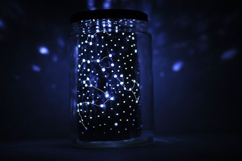 Draco and Orion and the Dipper- a jar full of stars.    http://www.designmom.com/wp-content/uploads/2012/05/Constellation-Jar-10.jpg