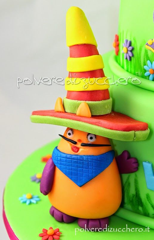 baby tv cake: Billy e Bam Bam, Mick, Henry, Tulli, Big Bugs band fondant paste