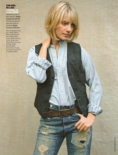 Melanie Laurent: I've been looking for a vest like this :D