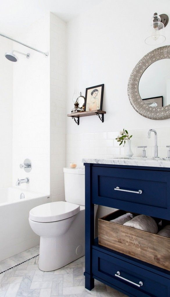 27 best images about blue bathroom on pinterest restroom for Navy bath accessories