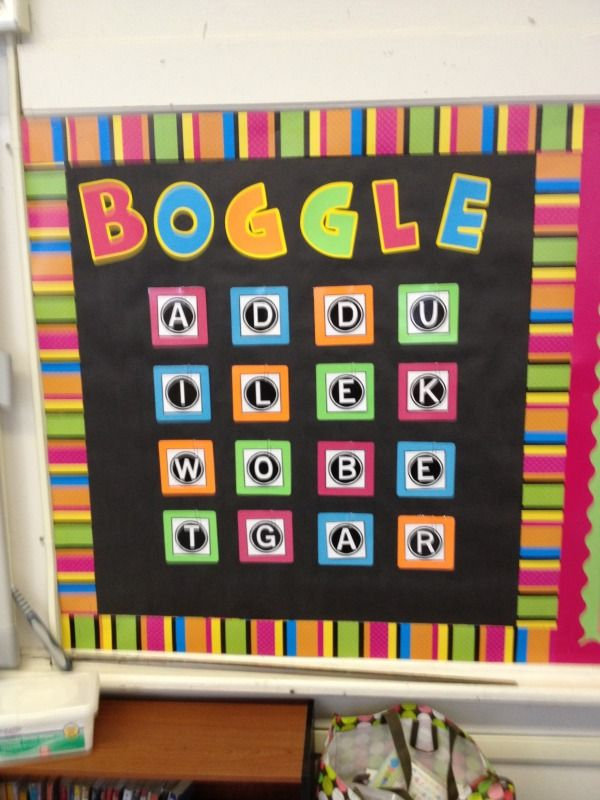 Introduce Boggle - update weekly, winner gets homework pass or other prize, for early finishers