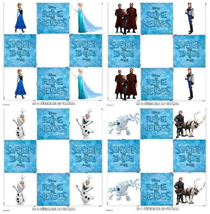 jeu de memory imprimer la reine des neiges