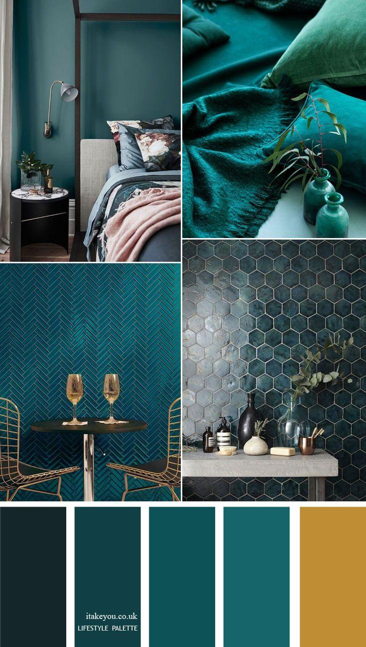 Teal Color Home Decor Idea Home Color Palette Room