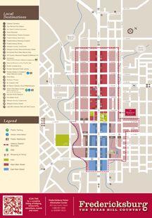 Fredericksburg Texas Area Map