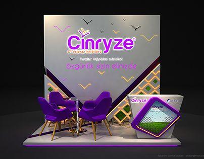 Centurion - Cinryze  Fuar ve Medikal Kongre Standı Tasarımı / Exhibition Booth Stand Design 3x2