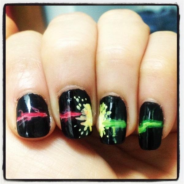 color splash nails