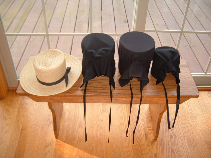 Bonnets on a bench