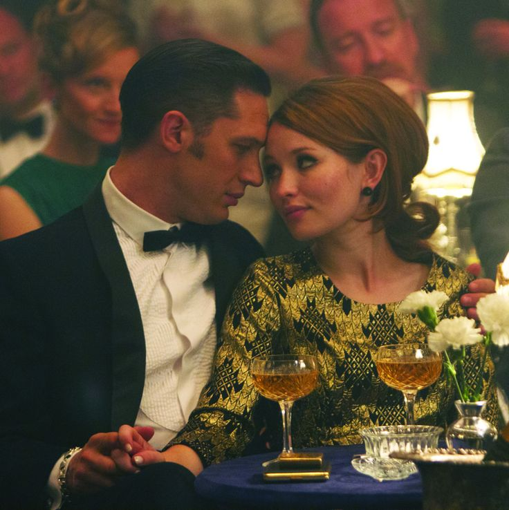 Tom Hardy (Reggie Kray) and Emily Browning (Frances Shea) | Legend (2015)Image: Universal Pictures (via Collider)