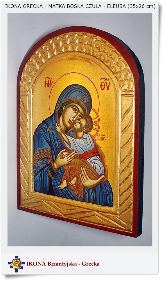 Ikona Grecka bizantyjska Eleusa