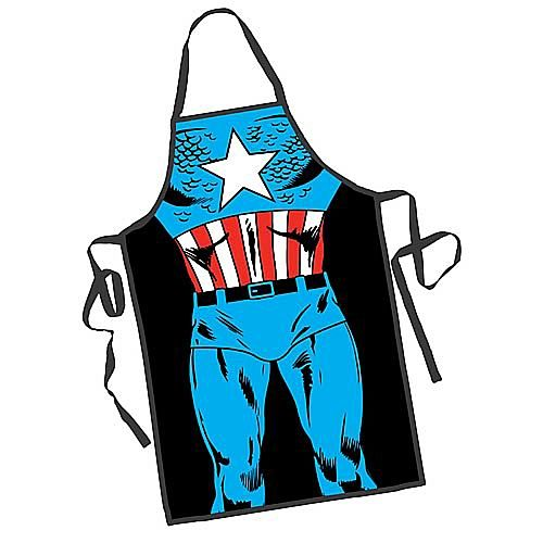 Do you save the day in your kitchen? Turn yourself into Captain America as you showcase your super-heroic cooking skills with this fun apron.