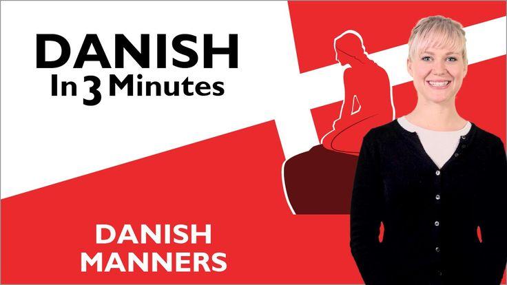 Learn Danish - Danish Manners