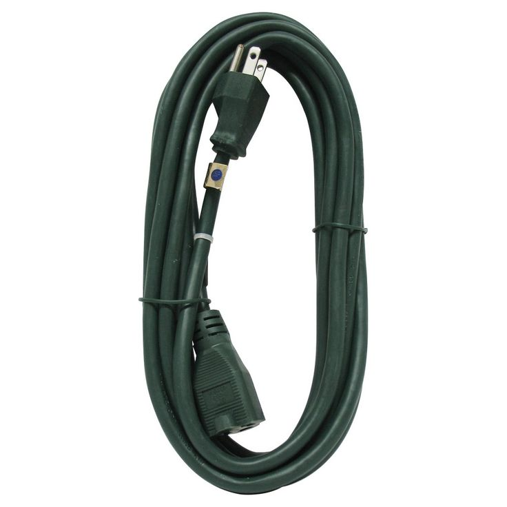 Green Outdoor Extension Cord 15-ft.
