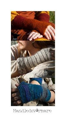 Nålbundna handledsvärmare, ie needlebound / nalbound armwarmers, made by (and for sale) @ Idunas Hantverk {Iduna's Handicraft}  ~  Please see link for more info [in Swedish]!