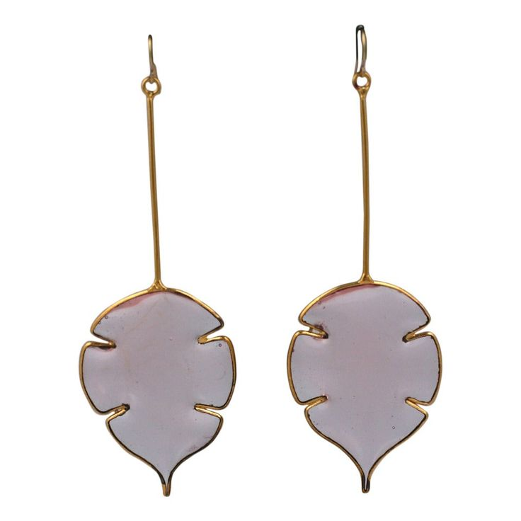 Poured Glass Money Plant Earrings, Mwlc – Products