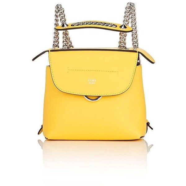 Fendi Women's Back To School Mini-Backpack (42 755 UAH) ❤ liked on Polyvore featuring bags, backpacks, yellow, yellow bag, knapsack bag, day pack backpack, chain backpack and fendi backpack