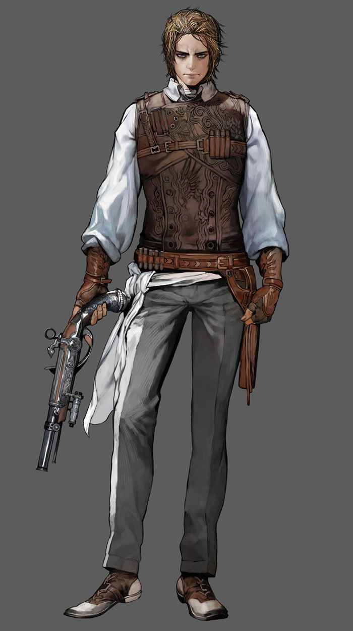 Gunslinger of the Renatus Collective. Often they act as adventurers, with only an occasional referral back to any of their officers.