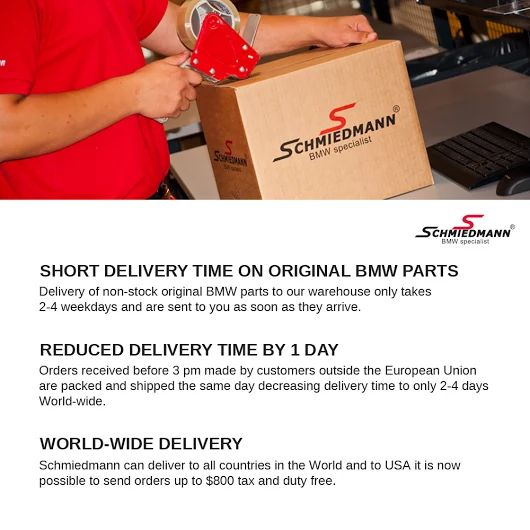As a customer at Schmiedmann we can offer you plenty of advantages regarding your order and delivery possibilities. See this. #BMW #bmwsport #delivery #dhl #gls #postage #shipping #mail