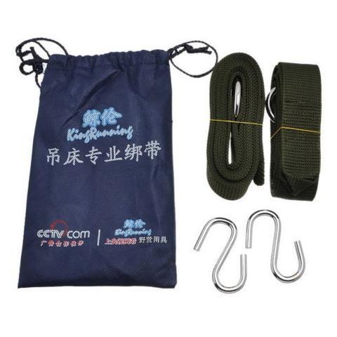 Hammock Straps Suspension Slap Storage Bag Outdoor Swing Steel Ring Pro. New