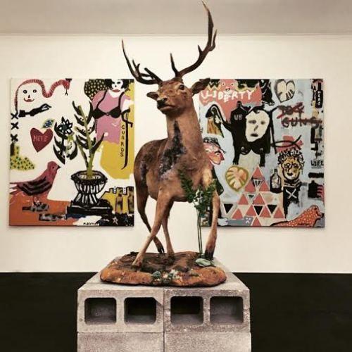 www.ompomhappy.com interview with Australian raw artist Marty Baptist #art #rawart #artbrut #modernart #contemporaryart #artcontemporain #kunst #painting #australianart #australianartist