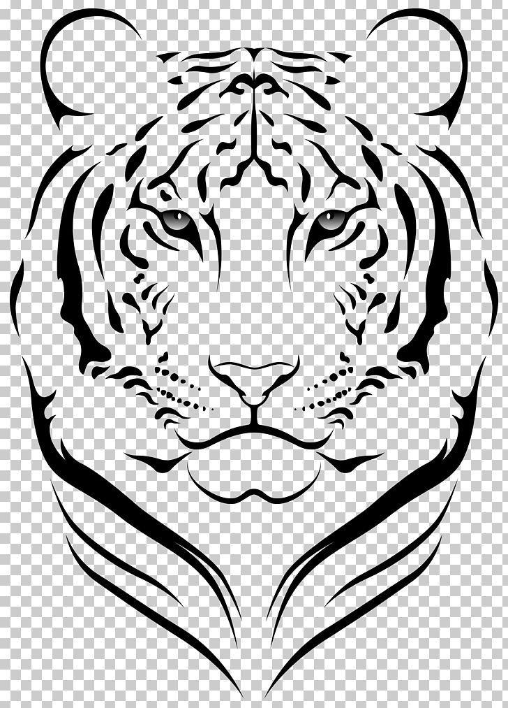 Bengal Tiger Face Png Animal Art Big Cats Black Carnivoran Tiger Illustration Tiger Face Tiger Stencil