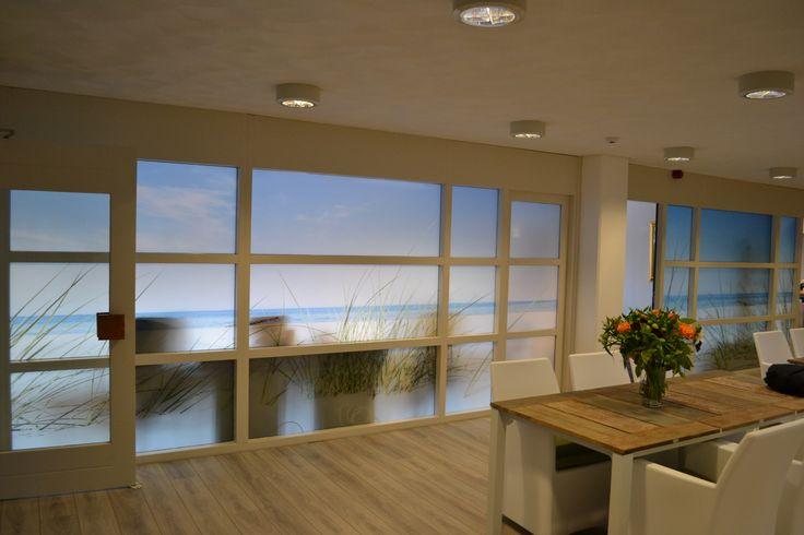 #Artidecco #Deborghprojecten #Windows #View #Beach #Nature #Strand #Natuur #Uitzicht #raam #Folie #Foil #Interieur #Design #Kantoor #Inspiratie #Style #Stijl