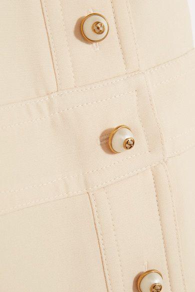 Gucci - Faux Pearl-embellished Wool And Silk-blend Mini Dress - Cream - IT38