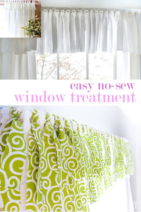 How To Make An Easy No Sew Window Valance In An Hour Kitchen