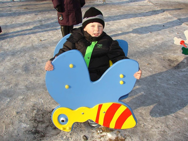 The Naked Heart Foundation  Playground in a town called Zima which means 'winter' in Russian:)