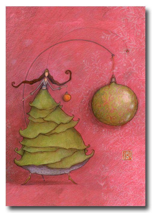 BOISSONNARD La robe sapin et la boule de Noël
