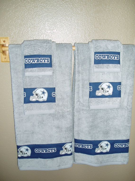 Dallas Cowboys Bathroom Towels/Dallas Cowboys by TheDustyMoose