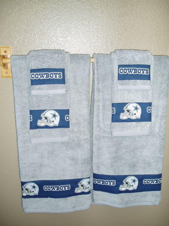 Dallas Cowboys Bathroom Towels/Dallas Cowboys by TheDustyMoose