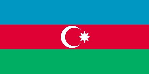 Azerbaijan flag.