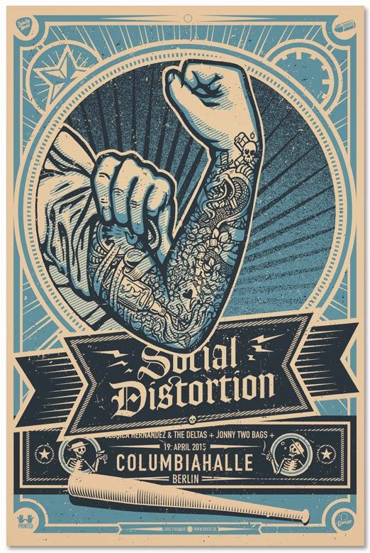 Social-Distortion-Lars-Krause-Berlin-Poster-Blue-2015