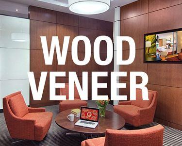 Wood Veneer Wallcovering, SanFoot from Levey Industries