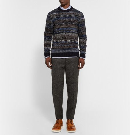 NN.07 - Tony Fair Isle Wool-Blend Sweater