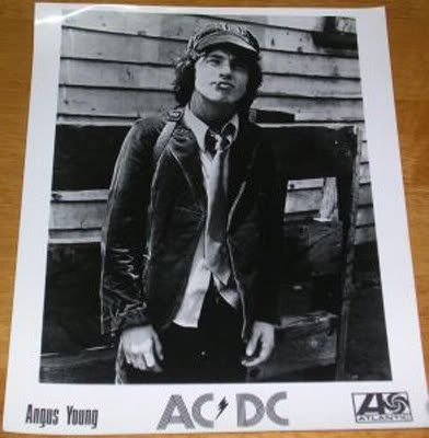 Angus Young - AC/DC - Promo photo for TNT Album, 1976