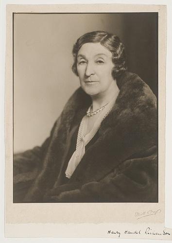 Henry Handel Richardson, author, ca. 1920-1935, photographers Elliott & Fry State Library of NSW