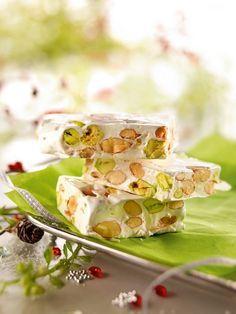 Nougat blanc au miel d'Acacia, amandes et pistaches »