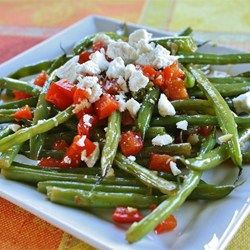 Marinated Green Beans with Olives, Tomato and Feta by allrecipes #Green_Beans #Feta #Olives  #Mediterranean_Diet #Healthy