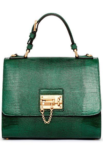 Dolce and Gabbana Emerald Green Handbag Fall-Winter 2014-2015 Collection