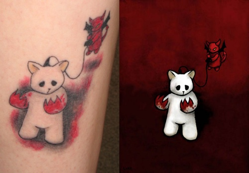 My Luke Chueh Possessed Tattoo And The Painting Inspiration  Zs