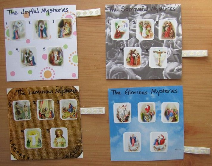 Amazing Catholic Craft for Kids- Make a Rosary Book out of four lunch sacks to allow for inserts!  The Creative Masters out there.  Phenomenal.
