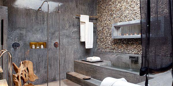 The apotheosis of eco chic: Areias do Seixo hotel in Costa de Prata, Portugal.Wooden Chairs, Bathroom Design, Concrete Bathroom, Interiors, Lisbon Portugal, Amazing Bathroom, Shower, Concrete Wood, Hotels